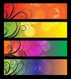 Banners, kopballen met abstracte lichten. Royalty-vrije Stock Afbeelding
