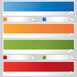 Banners and labels Royalty Free Stock Photography