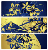 Banners or labels with floral design, vector Royalty Free Stock Photos