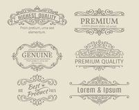 Banners Labels Frames Calligraphic Design Elements Stock Photography