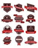 Banners and labels with ribbons Stock Photo