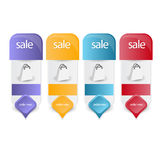 Banners,labels or tags for web Stock Image