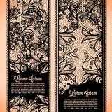 Banners lace royalty free illustration