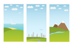 Banners with landscape Royalty Free Stock Images