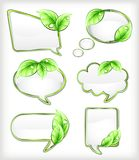 Banners with leaf. Vector illustration Royalty Free Stock Photos