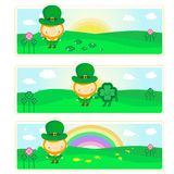 Banners with Leprechaun Royalty Free Stock Photos