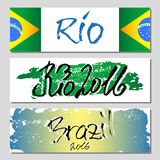 Banners with lettering about Rio Royalty Free Stock Photography