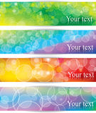 Banners with light bokeh Stock Photography