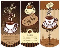 Banners for local cafes Royalty Free Stock Photo