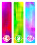 Banners with logo Stock Image