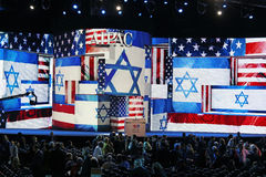 Atmosphere at AIPAC Conference Stock Image