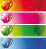 Banners with loving hearts Stock Images