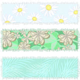 Banners made of old fabric Royalty Free Stock Images