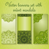 Banners with mandalas Stock Photos