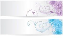 Banners met abstracte bloemen vector illustratie