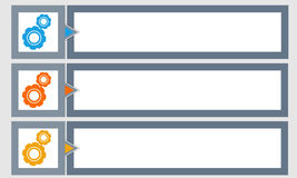 Banners met gekleurde tandraderen Stock Afbeelding