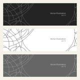 Banners met Geometrisch Patroon van Krommen Stock Fotografie