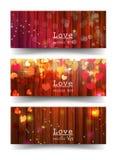 Banners met liefdeconcept Stock Foto's