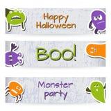 Banners met Monsters Royalty-vrije Stock Afbeelding