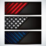 Banners, metallic set, modern backgrounds design Stock Images