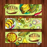 Banners Mexican Food Royalty Free Stock Images
