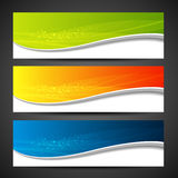 Banners modern wave design set