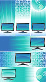 Banners with monitors Royalty Free Stock Image
