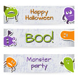 Banners With Monsters Royalty Free Stock Image