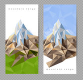 Banners with mountains Royalty Free Stock Images