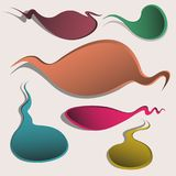 Banners multicolored abstract shape vector eps 10.  Stock Image