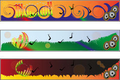Banners with music motif Stock Photography