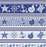 Banners with Nautical symbols Royalty Free Stock Photography