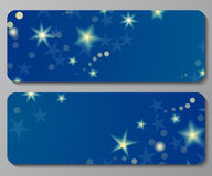 Banners with night sky background Royalty Free Stock Image