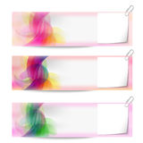 Banners and notepaper Royalty Free Stock Photo
