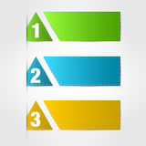 Banners numbered Stock Photography