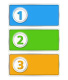 Banners with numbers Royalty Free Stock Images