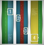 Banners with numbers. Stock Photography