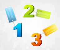 Banners with numbers and place for own text. Stock Photos