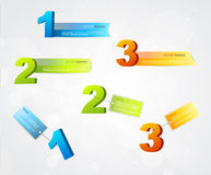 Banners with numbers and place for own text. Royalty Free Stock Image