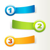 Banners with numbers and place for own text. Royalty Free Stock Photo