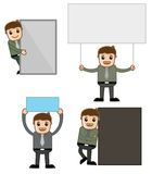 Banners - Office and Business People Cartoon Character Vector Illustration Concept Royalty Free Stock Image