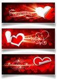 Banners op de Dag van de Valentijnskaart Royalty-vrije Stock Afbeeldingen