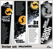 Banners op de vakantie Halloween voor te bereiden Royalty-vrije Stock Foto's
