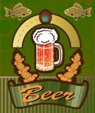 Banners op onderwerp met bier Stock Foto's