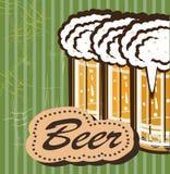 Banners op onderwerp met bier Royalty-vrije Stock Foto's