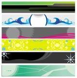 Banners op verschillende thema's Stock Afbeeldingen