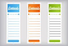 Banners - options Stock Image