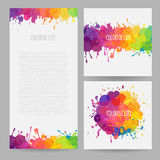 Banners with paint splatters Royalty Free Stock Images
