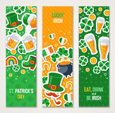 Banners for Patrick Day Celebration Royalty Free Stock Images