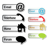 Banners - phone, email, home, forum Royalty Free Stock Photo
